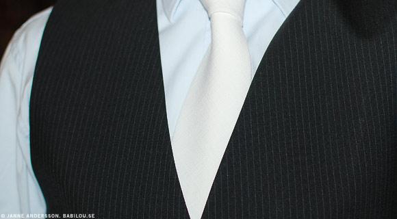 vit slips på begravning