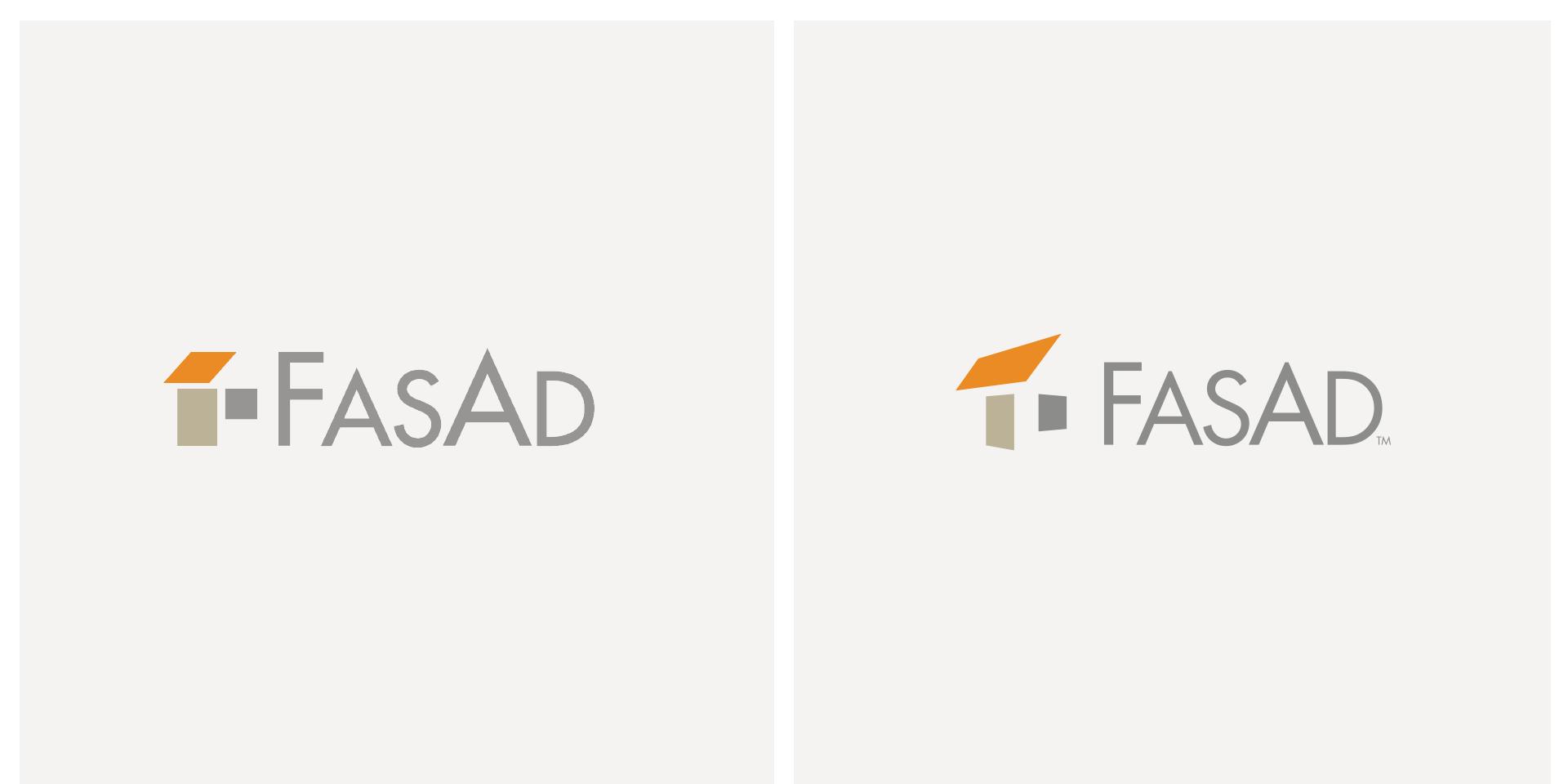 Skiss på uppiffad logotype