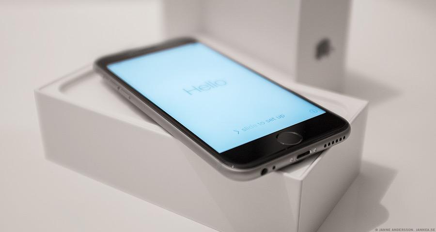 En ny liten iphone|© Janne A