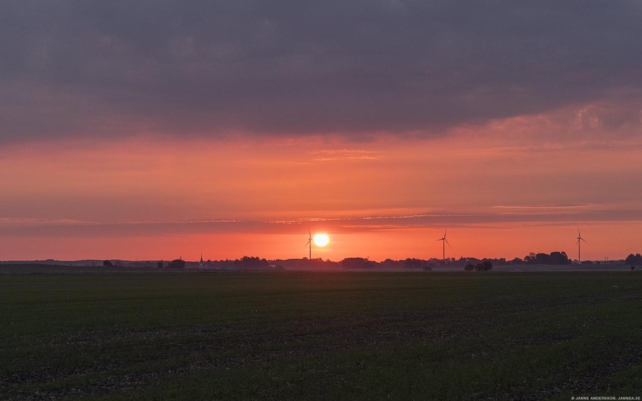 Morgonsol över östgötaslätten |© Janne A