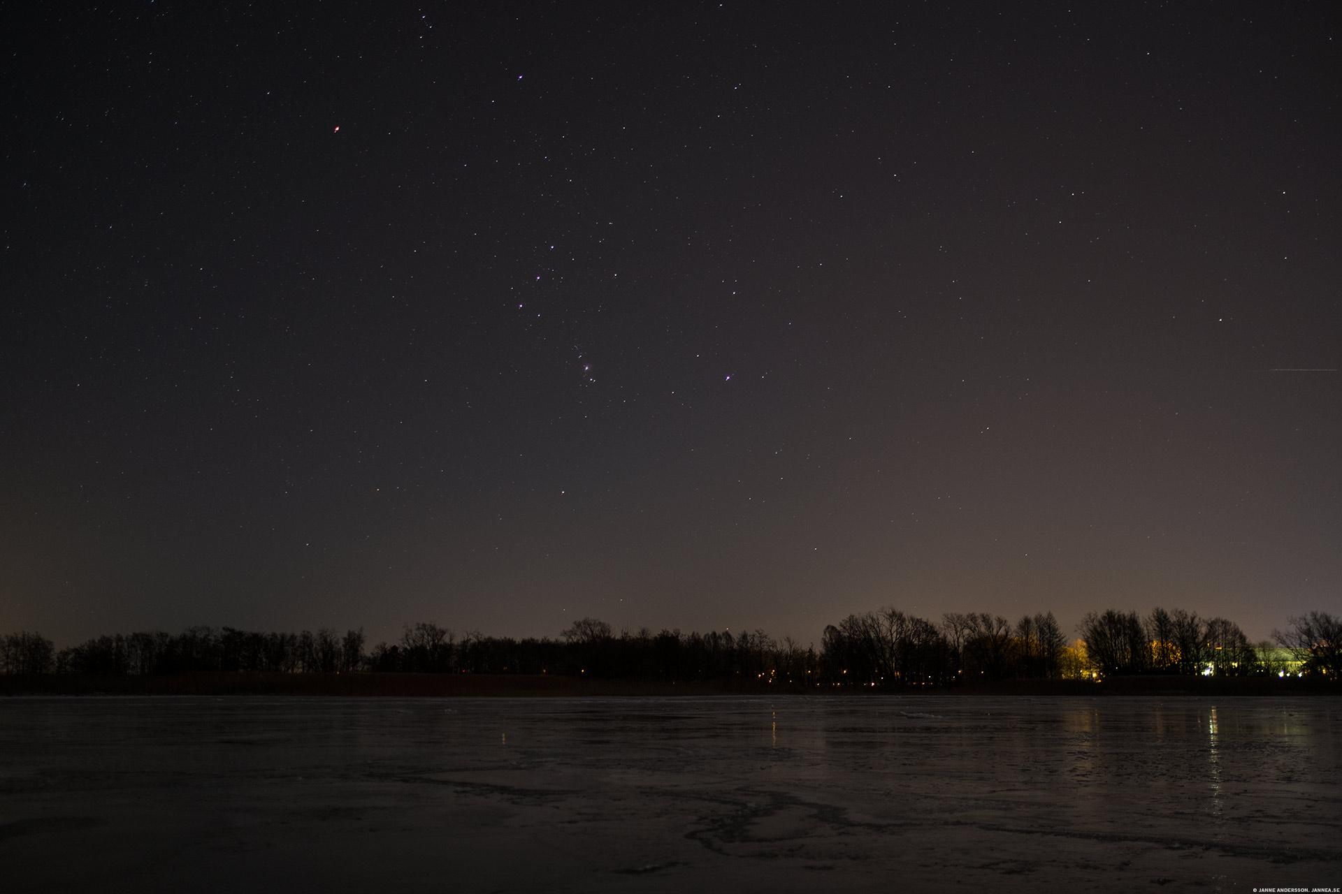 Stjärnklar himmel och Orion  ©Janne A