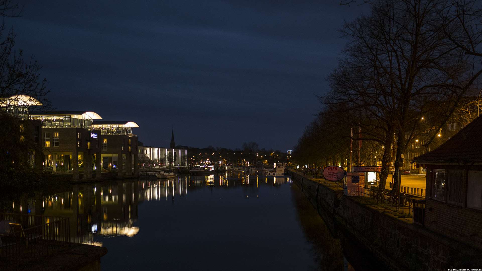Utsikt över floden/kanalen Trave, Lübeck|©Janne A