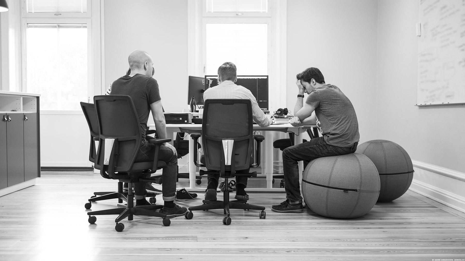 Pojkarna på jobbet  © Janne A