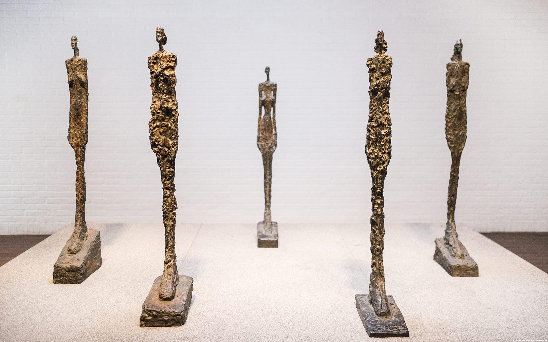 Giacomettis venetianska kvinnor på Louisiana |© Janne A