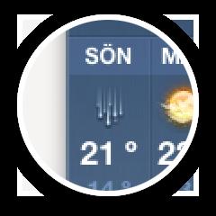 Fel väder i appen