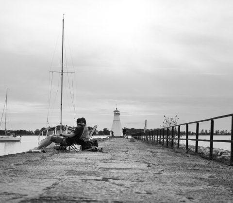 Promenad ut på hamnpiren, Vadstena |©Janne A