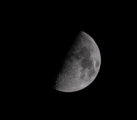En halvmåne i slutet på oktober |©Janne A
