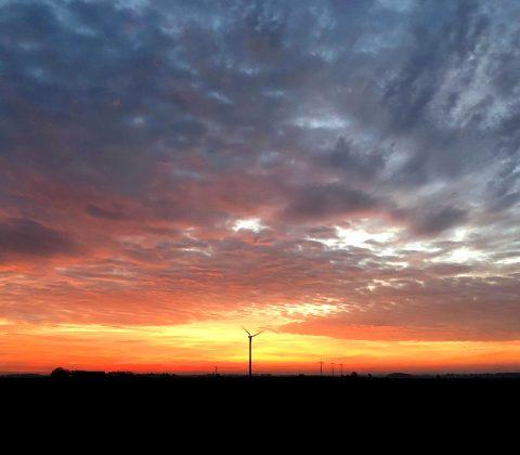 Soluppgång över östgötaslätten   ©Janne A