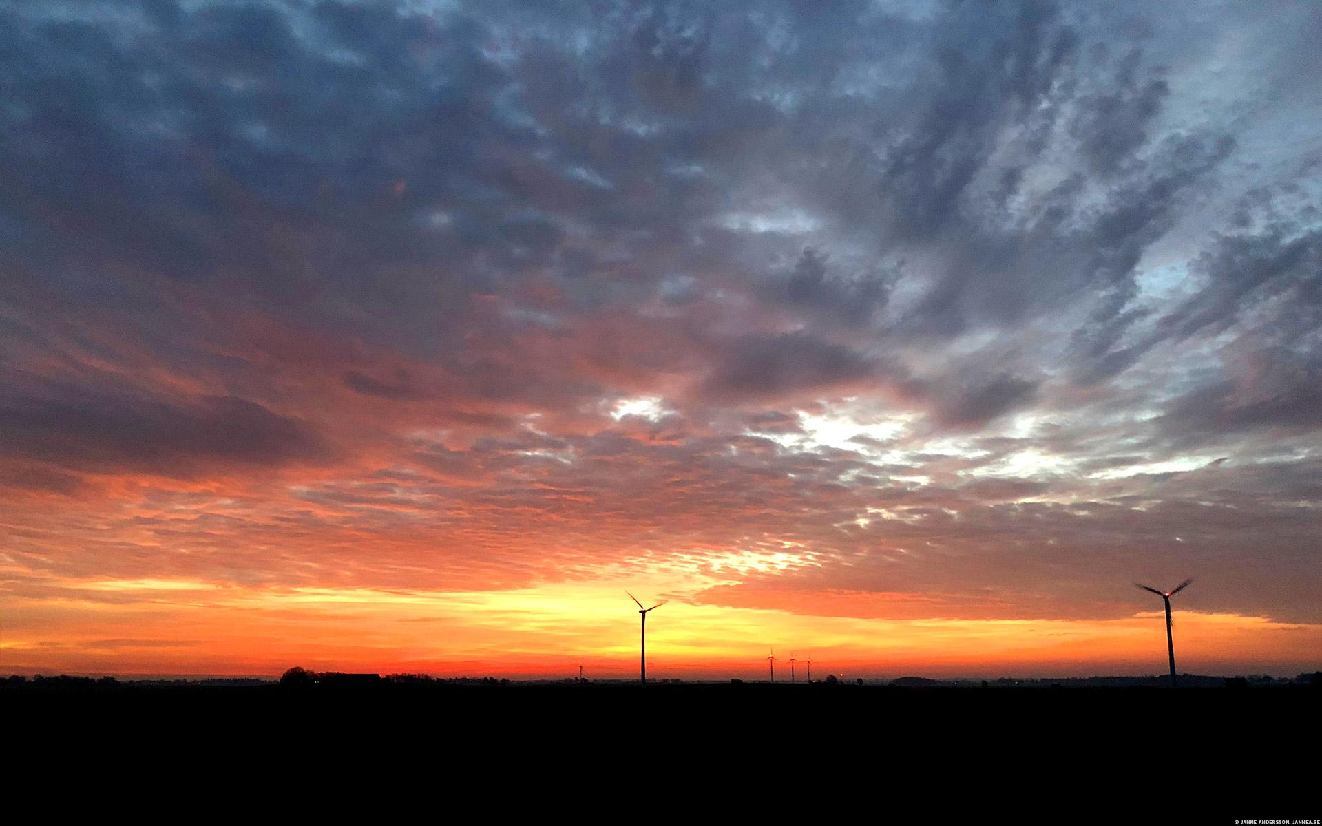 Soluppgång över östgötaslätten | ©Janne A
