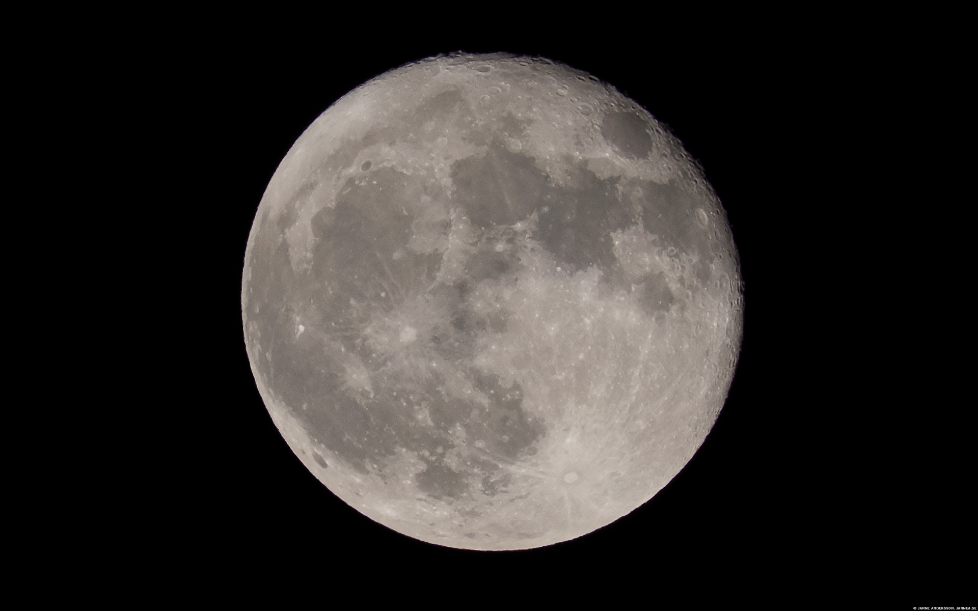 Nästan fullmåne, dagen efter | ©Janne A