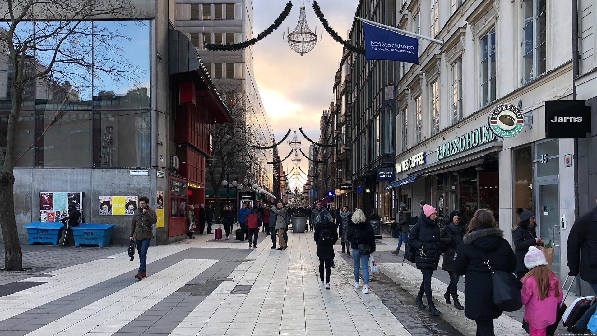 Drottninggatan i Stockholm|© Janne A