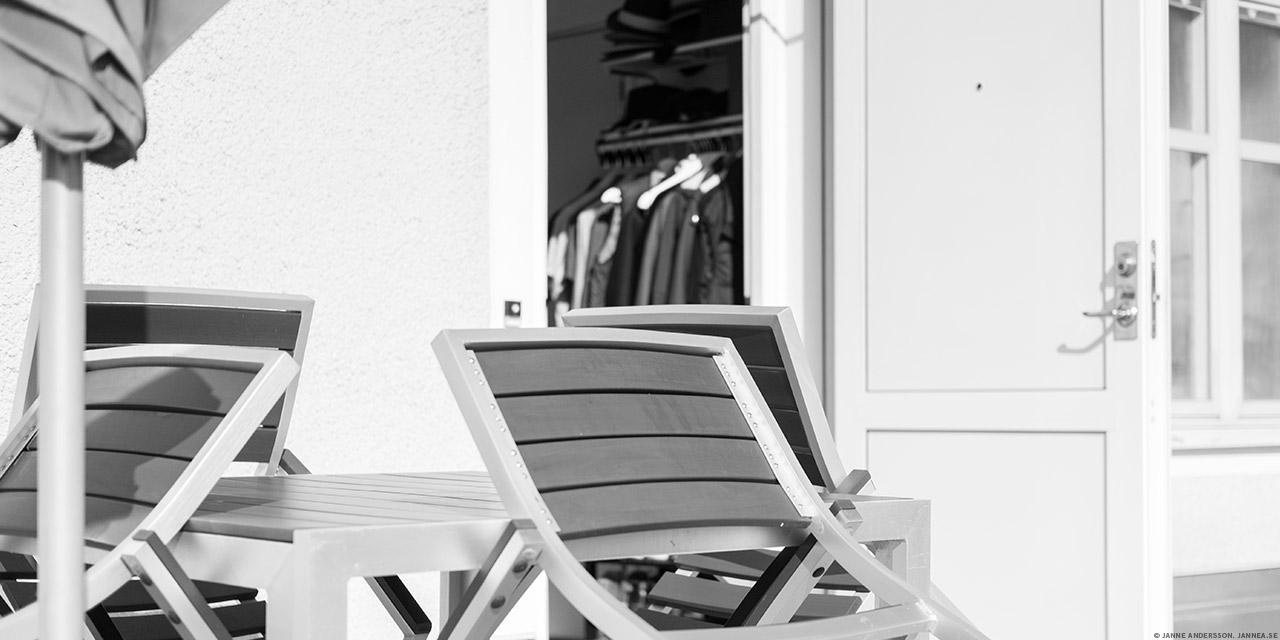 Utemöbler på terrassen|©Janne A