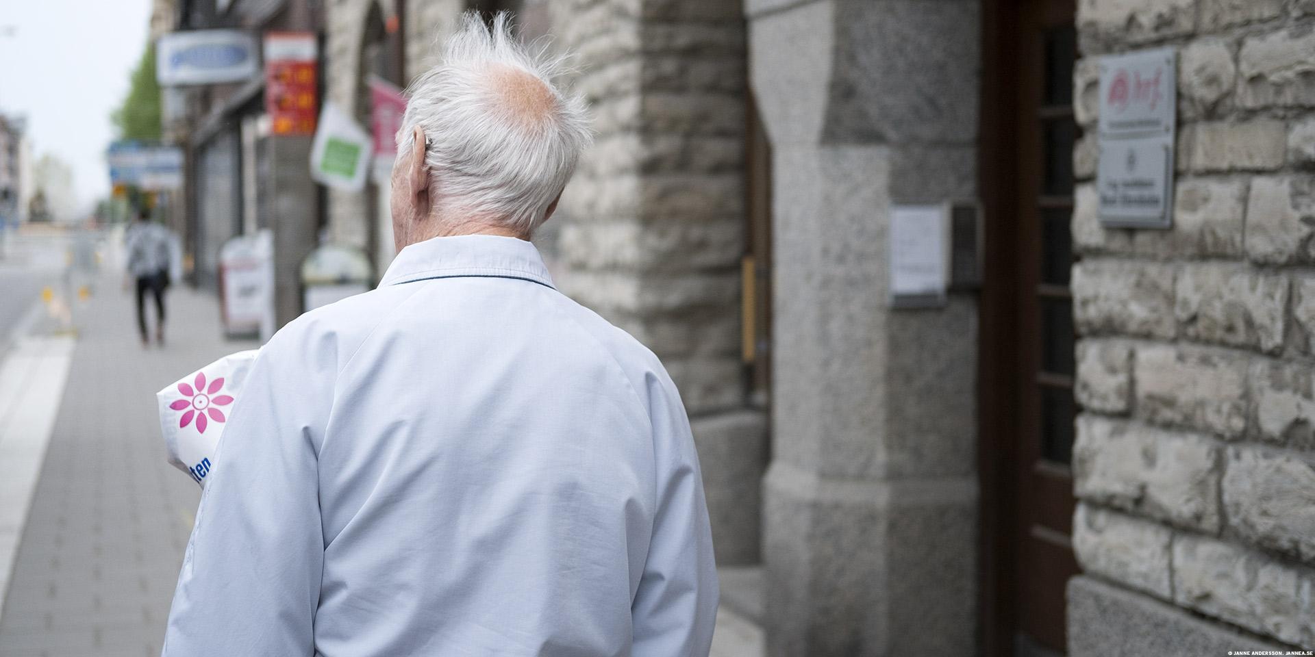 En gammal man i Linköping |©Janne A