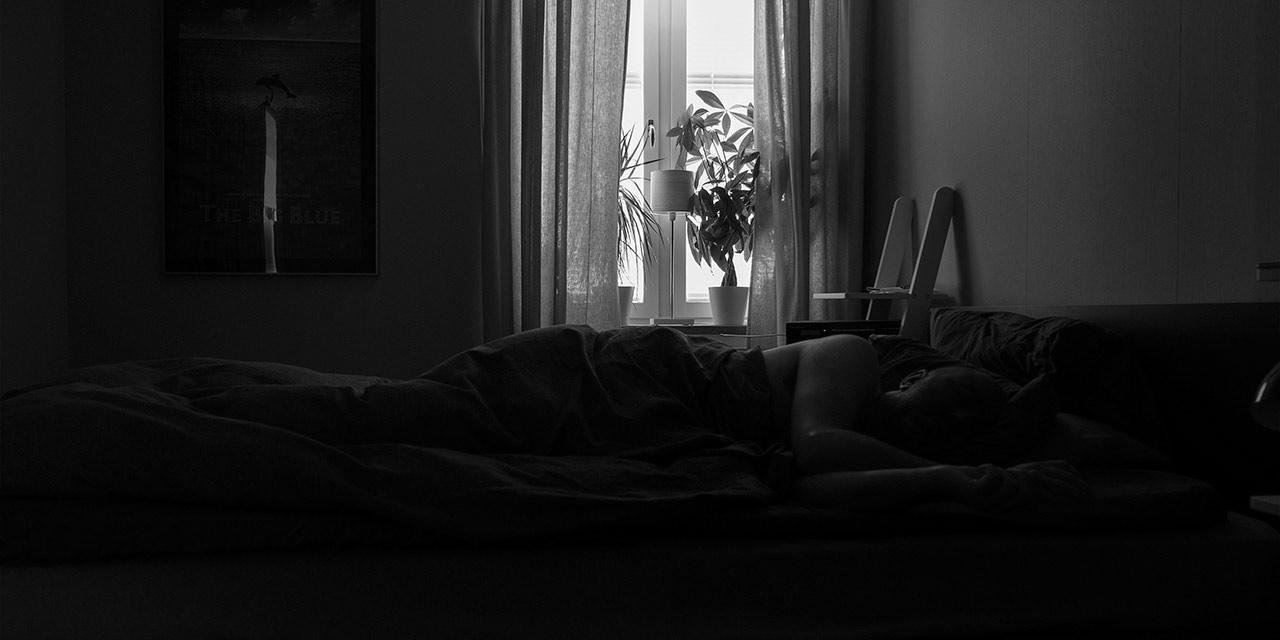 Att ligga sjuk i sängen  ©Janne A