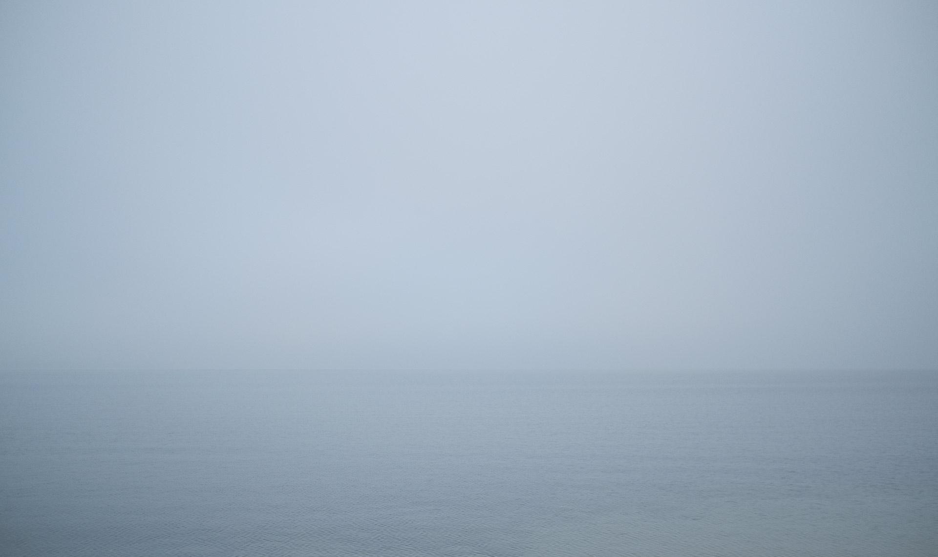 Vättern, en grå och disig dag |©Janne A