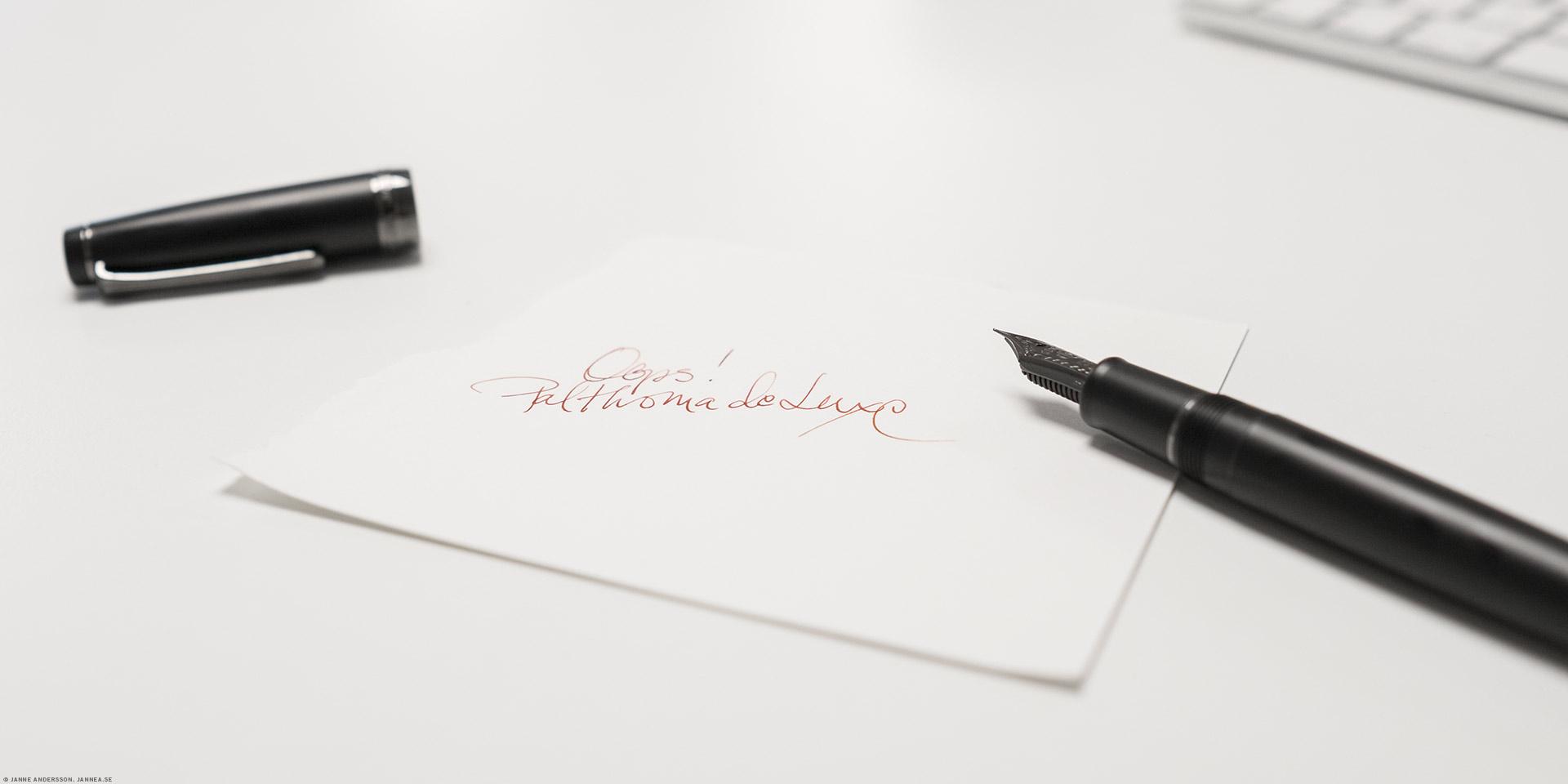 Paltkoma deluxe och nya pennan | ©Janne A