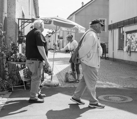 Turistande gubbar i Vadstena|©Janne A