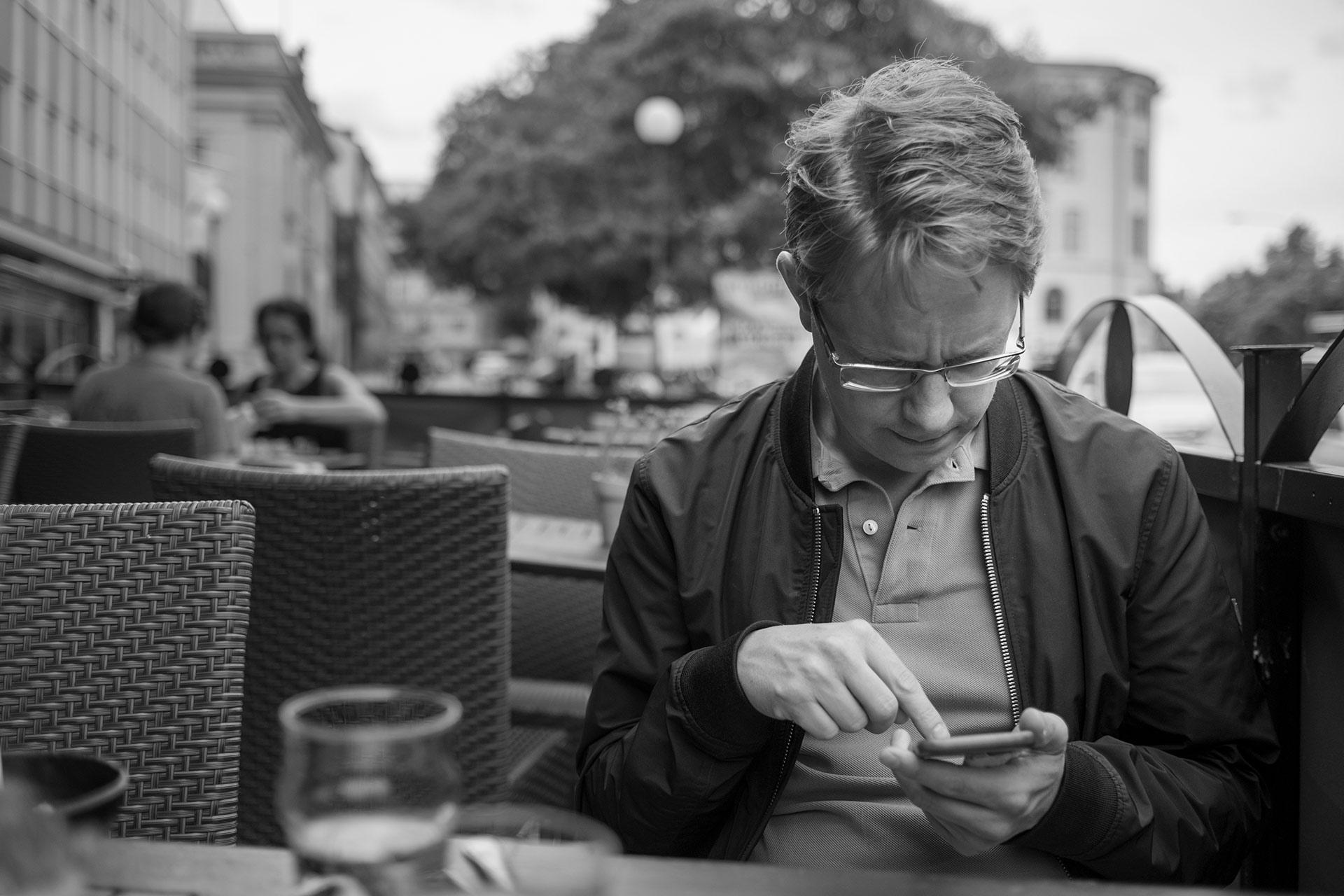 Niklas och en lunch i Örebro |©Janne A