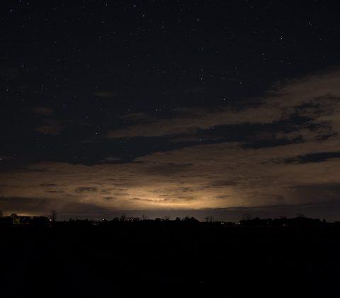 Natthimmel över östgötaslätten |©Janne A