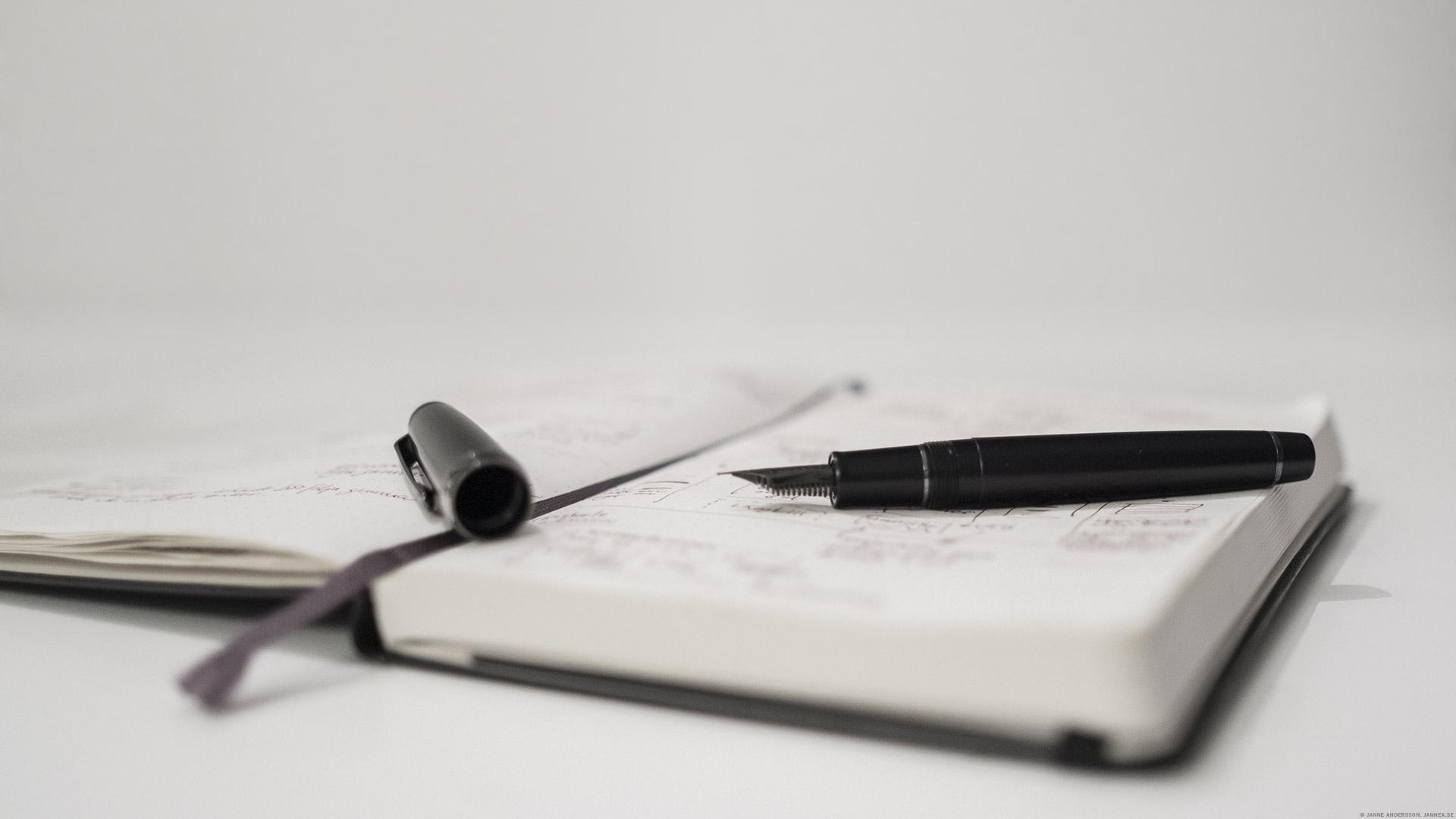 Favoritpennan och anteckningsboken|© Janne A