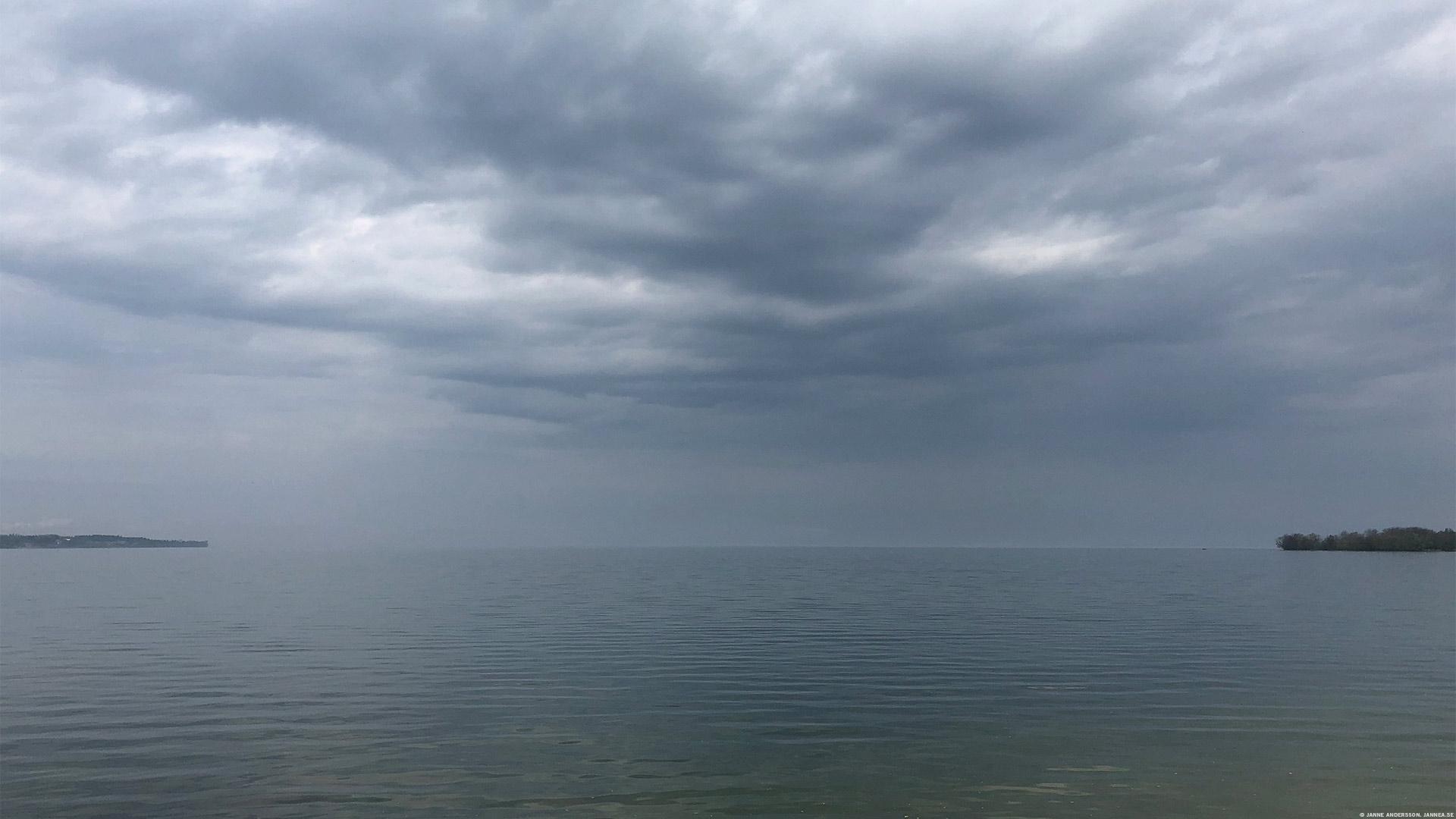 Tråkväder över sjön | © Janne A