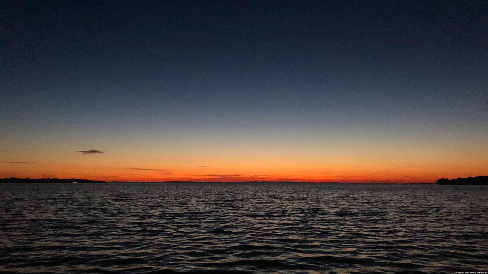 En solnedgång över Vättern |© Janne A