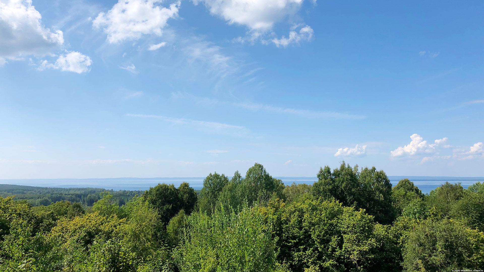 Utsikt från Farfarsstugan, Övralid |© Janne A
