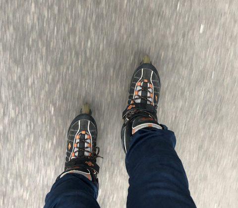 Inlines på bra asfalt rullar bra |©Janne A