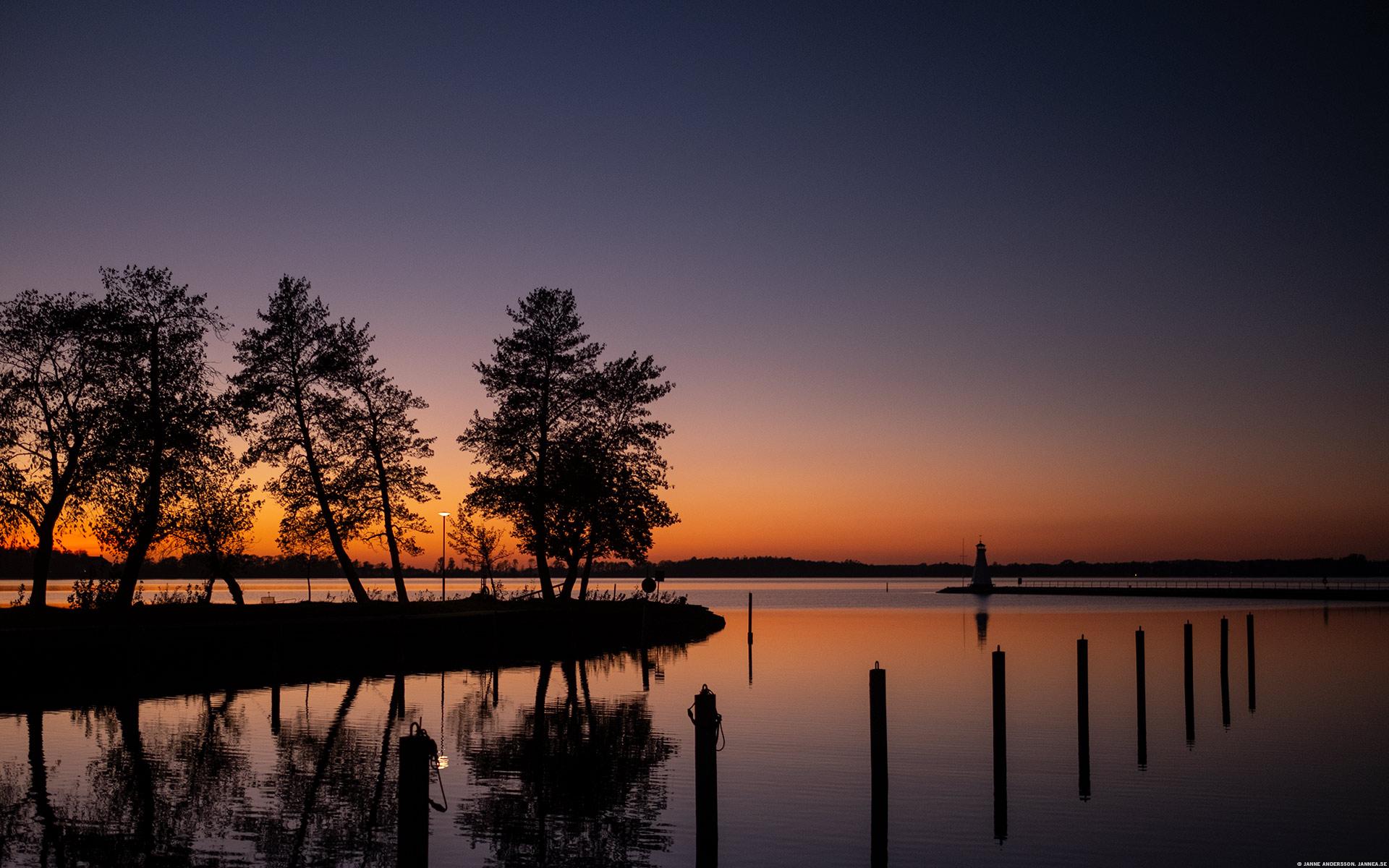 Efter solnedgången, piren i Vadstena | © Janne A