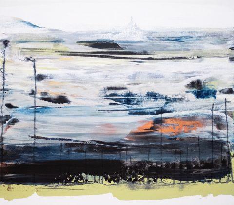 En slags tavla med abstrakt landskap |© Janne A