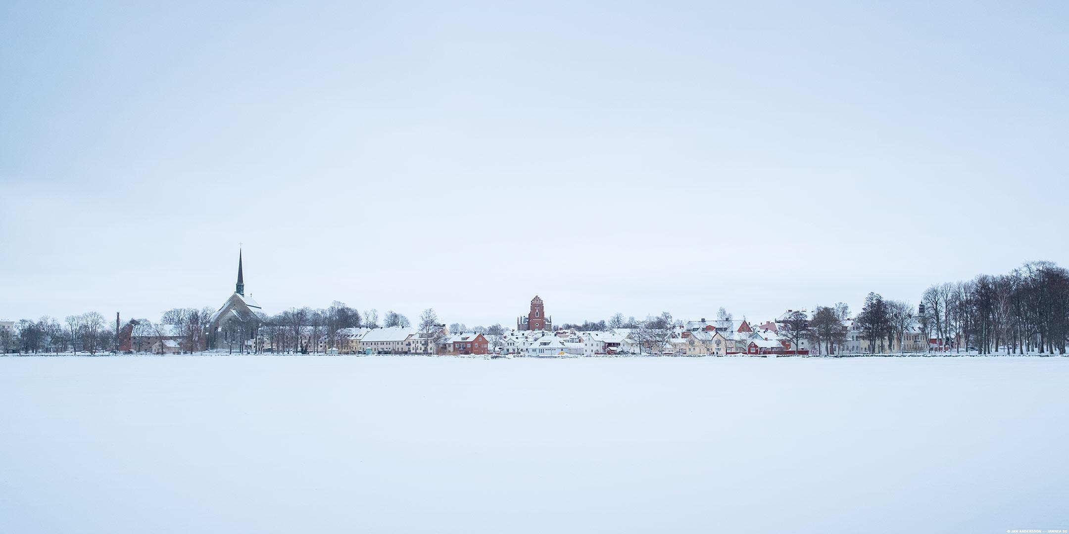 Världens vackraste Vadstena och världens kallaste kinder  © Jan Andersson