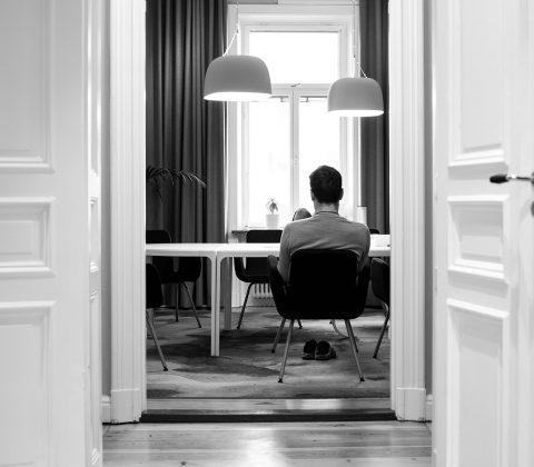 Mikael i konferensrummet på jobbet |© Jan Andersson