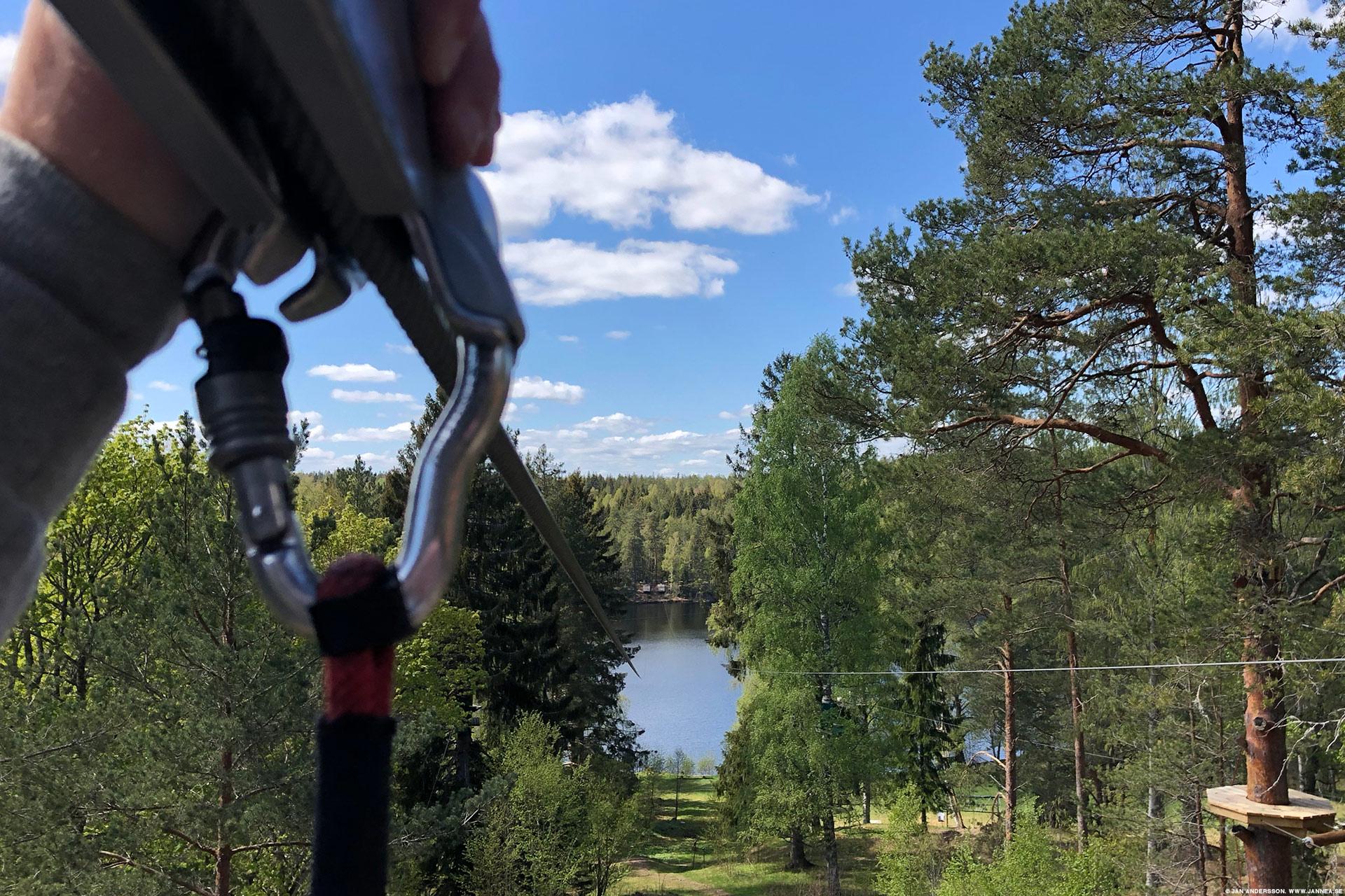 Zipline över Sörsjön |© Jan Andersson