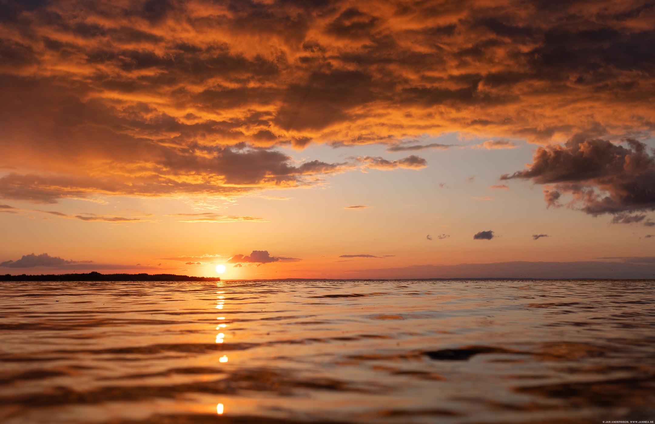 Världens vackraste Vadstena och en solnedgång | © Jan Andersson