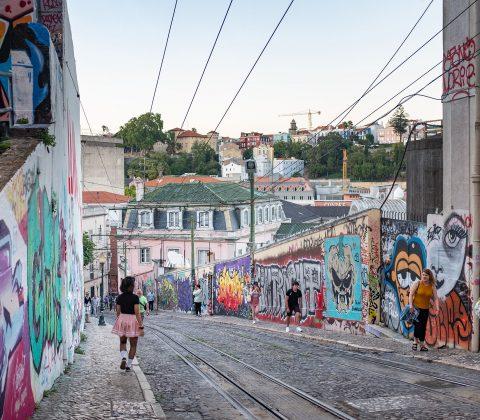 Grafittigatan upp till Bairro Alto |©Jan Andersson