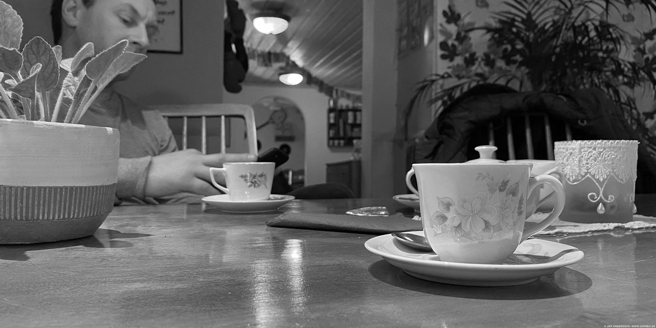 Söndagens lilla kaffe och vaniljbulle