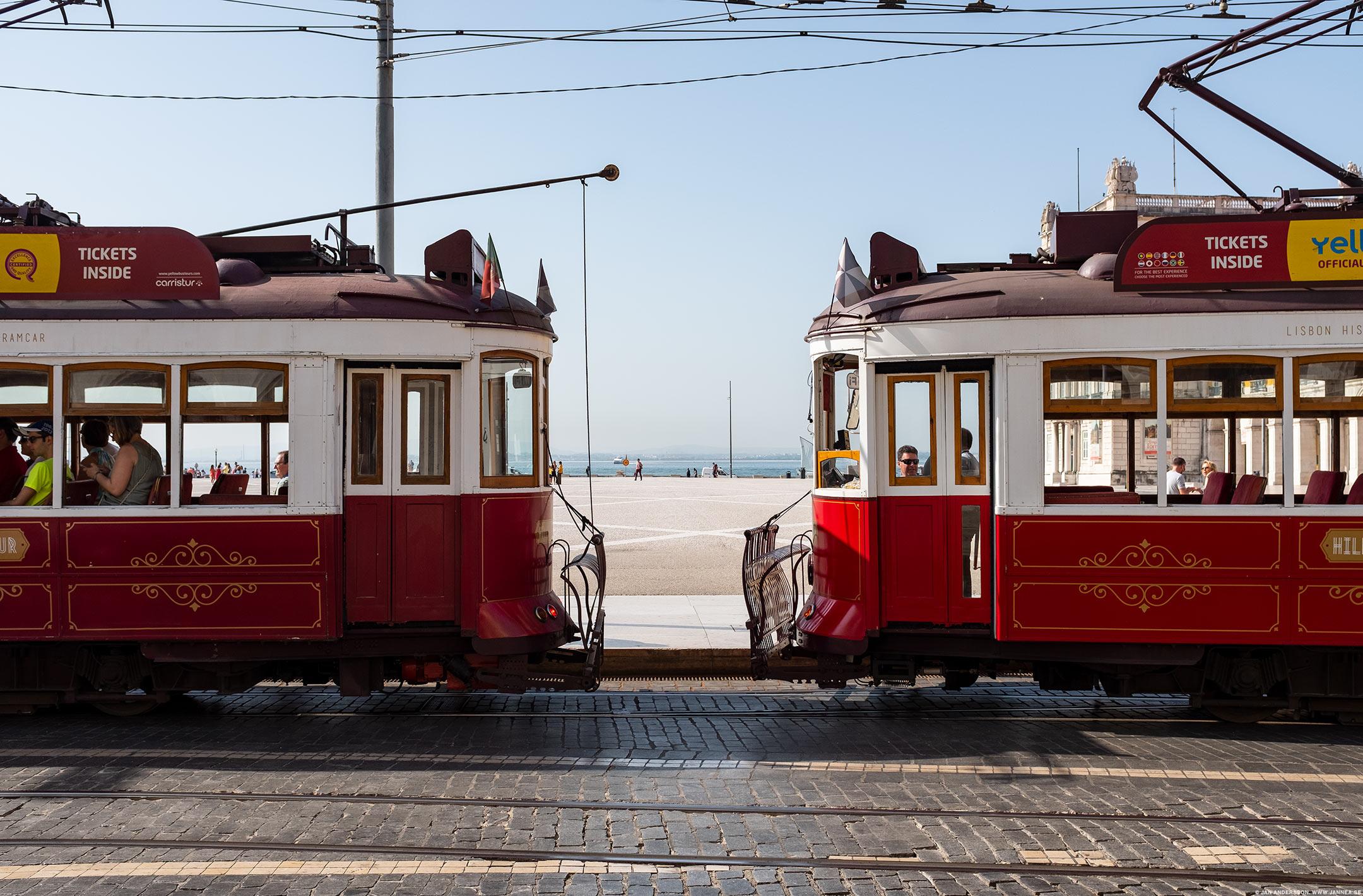 Spårvagnar i Lissabon |© Jan Andersson