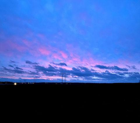 En blå morgon till jobbet