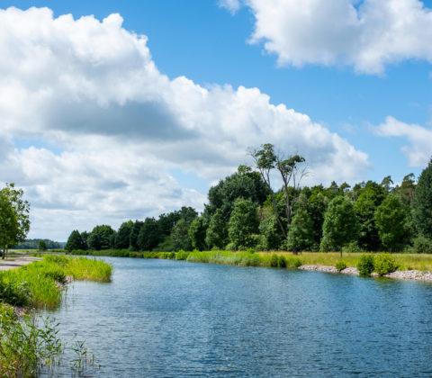 Utflyktsfika bredvid Göta Kanal