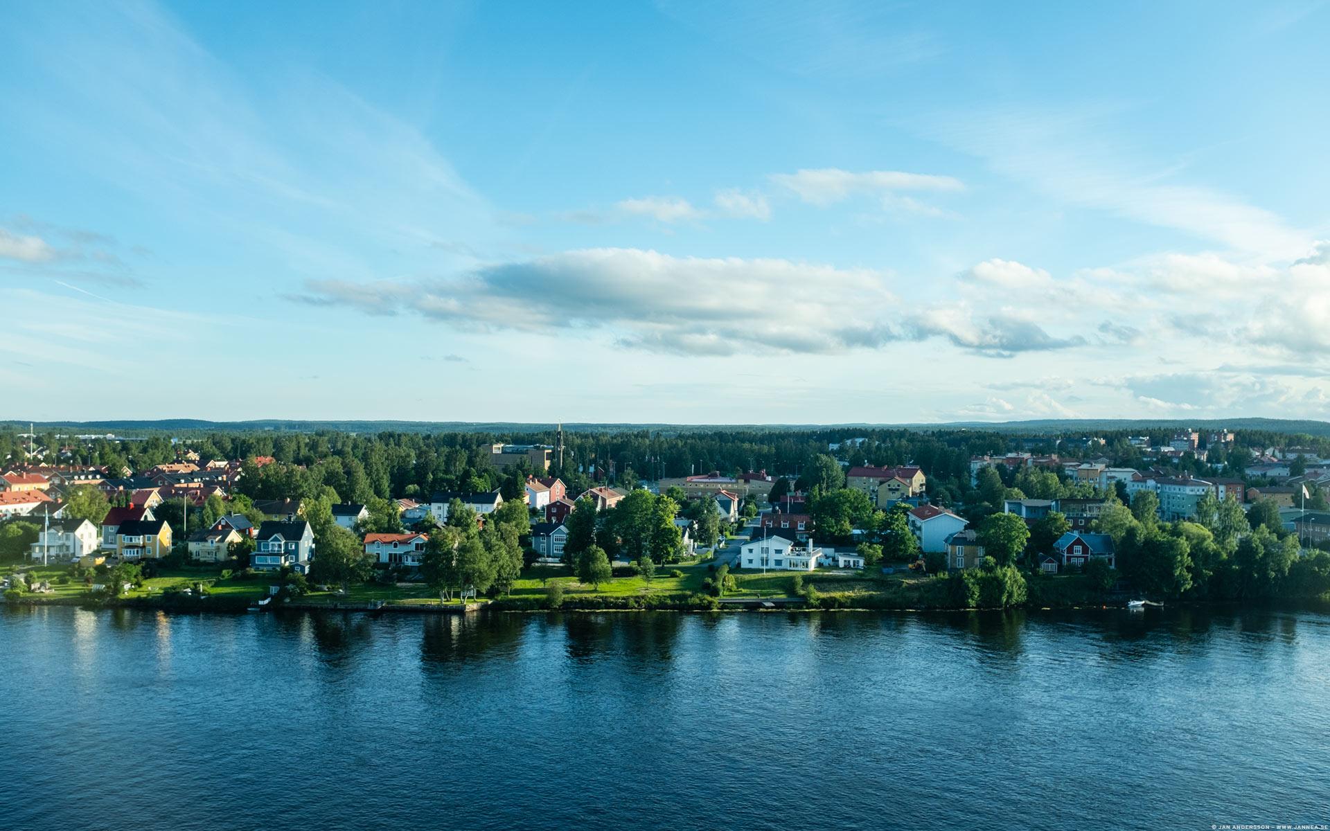 Utsikt från hotellrummet i Umeå