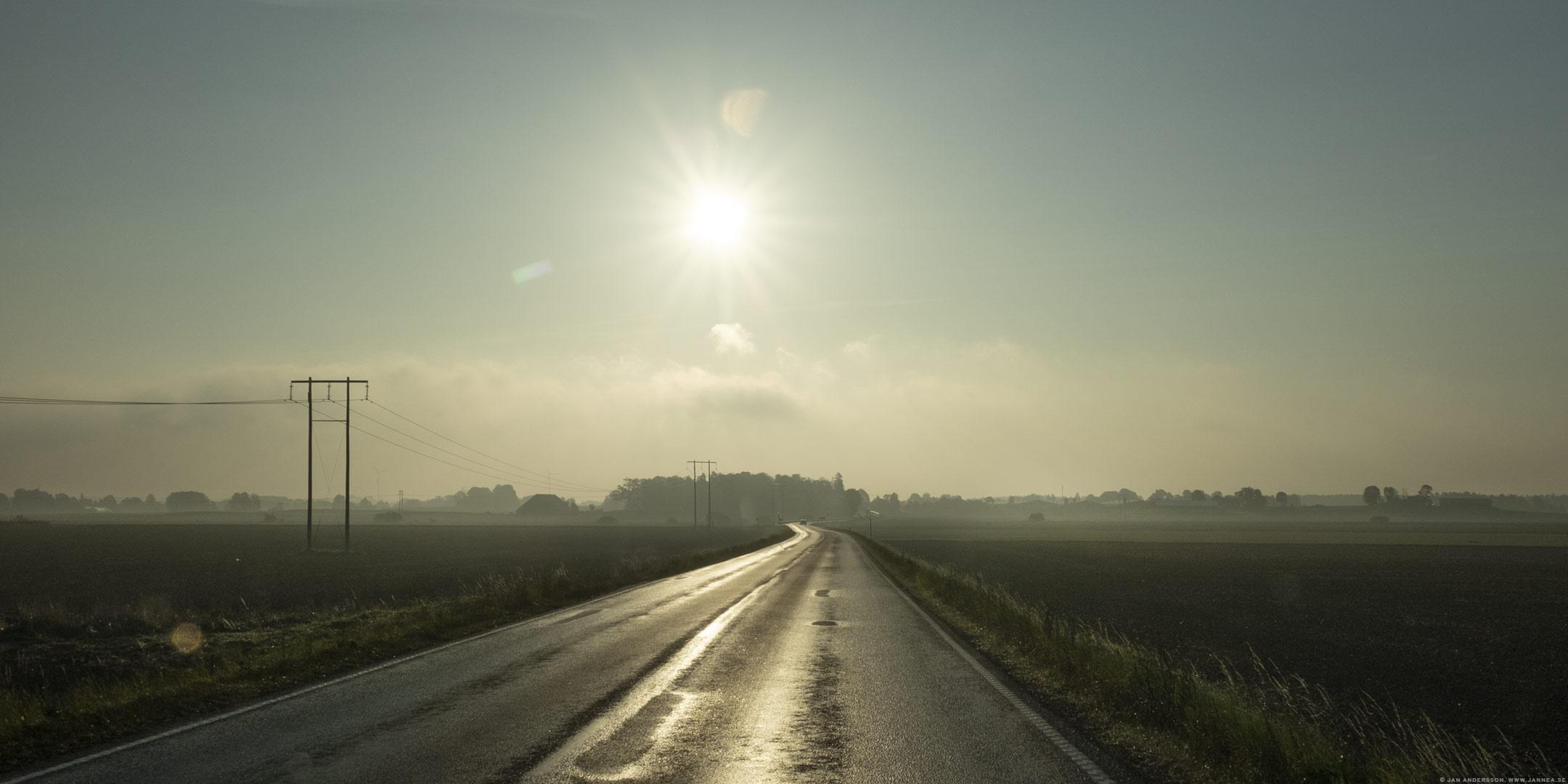Solskensmorgon och lång mötesdag